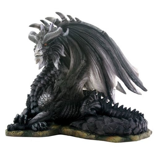 YTC SUMMIT 7642 Gorgeous Dark Dragon Figurine Statue