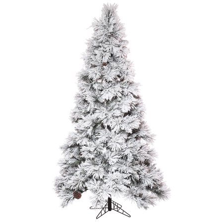 "Vickerman Artificial Christmas Tree 6.5' x 42"" Flocked ..."