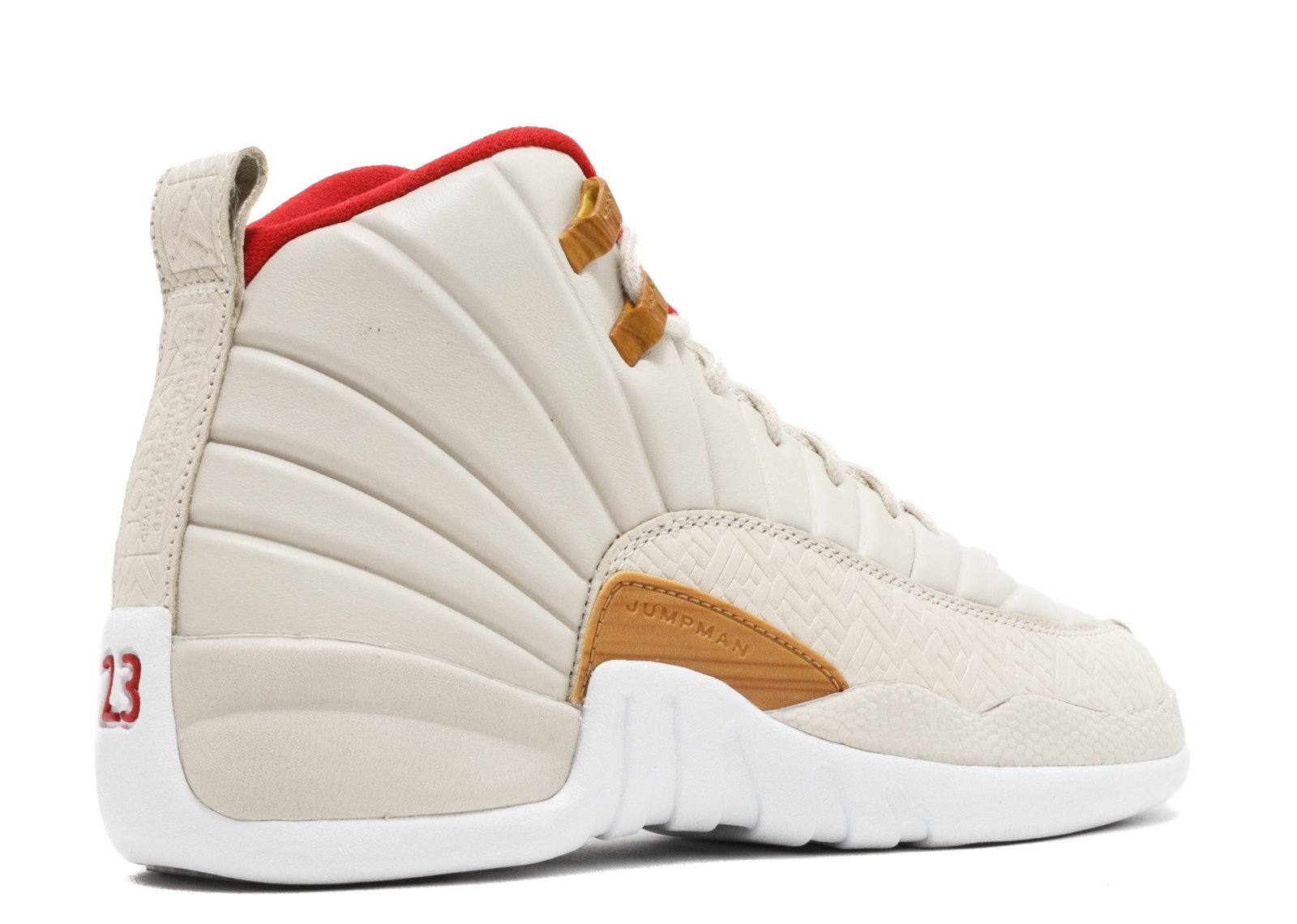 ... Nike - Kids Air Jordan 12 XII Retro GS Chinese New Year Tan White Red  881428 ... 88d8cee9cd