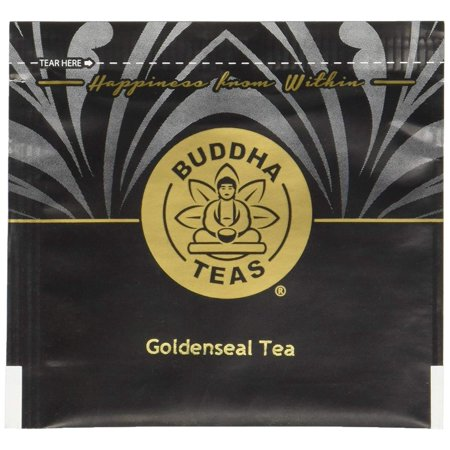 Organic Goldenseal Herb Tea - Kosher, Caffeine-Free, GMO-Free - 18 Bleach-Free Tea Bags, Rich in Vitamin C, Thiamin, Riboflavin and Niacin, Calcium, Phosphorus and.., By Buddha Teas - Goldenseal Tea Bags