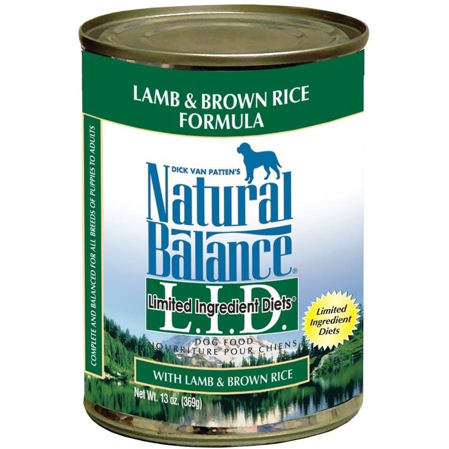 Natural Balance Limited Ingredient Diets, Lamb & Brown Rice, 13 oz Can