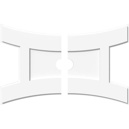 Ekena Millwork CMP32X21HN2-03000 3 in. ID x 7 in. Rectangle Haven Architectural Grade PVC Contemporary Ceiling Medallion - 2 Piece - image 1 de 1