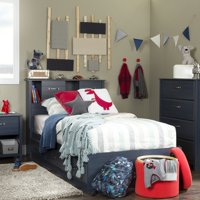 South Shore Ulysses Bookcase Storage Bed