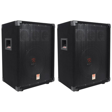 "(2) Rockville RSG10 10"" 400 Watt 2-Way 8-Ohm Passive DJ/Pro Audio PA Speaker 400 Watt 2 Way Pa"