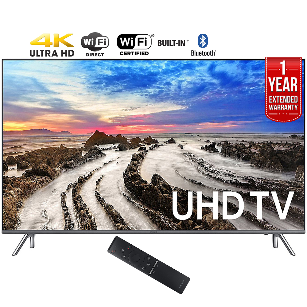 "Samsung UN55MU8000FXZA 55"" 4K Ultra HD Smart LED TV (2017 Model) + 1 Year"