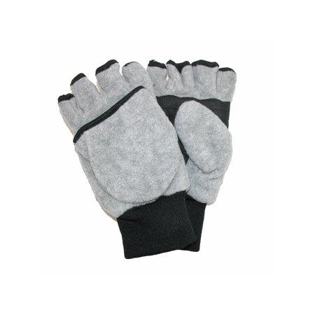 - Size Large / Xlarge Kid's and Teen's Fleece Convertible Fingerless Winter Mitten / Gloves
