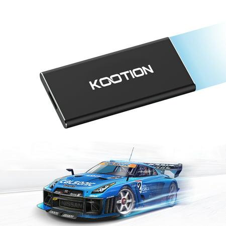 KOOTION 240GB USB 3.0 External SSD Solid State Drive Portable High Speed USB Flash Drive, Black](sandisk ssd ultra ii 240gb)