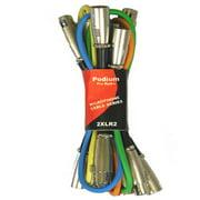 Podium Pro 2XLR2 Set of Six 2' Pro Audio Mic / Microphone Cables Male XLR Jack to Female XLR Jack