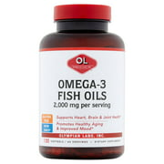 Olympian Labs Omega-3 Fish Softgels, 2000 Mg, 120 Ct