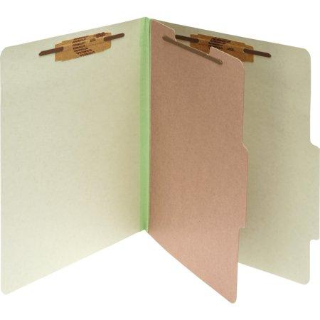 Folder Part (ACCO Pressboard 4-Part Classification Folders, Legal, Leaf Green Box of 10)