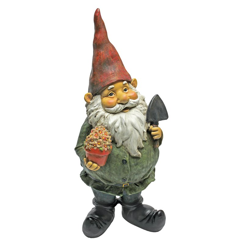 Design Toscano Dagobert with Gifts Garden Gnome Statue by Design Toscano