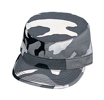 Military Style City Camouflage Fatigue Cap