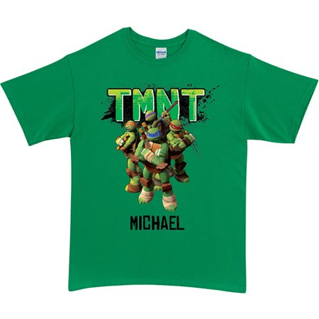 Personalized teenage mutant ninja turtles group green for Green turtle t shirts review