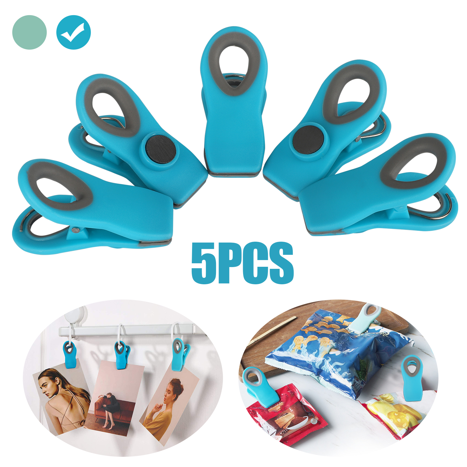 Kitchen Snack Food Storage Sealing Bag Multipurpose Food Clips with Magnet