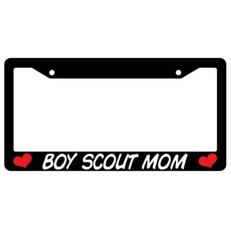 Boy Scout Mom Black Plastic License Plate Frame Ama Ama