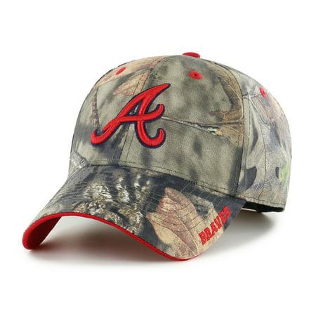 Fan Favorite MLB Mossy Oak Adjustable Hat, Atlanta Braves