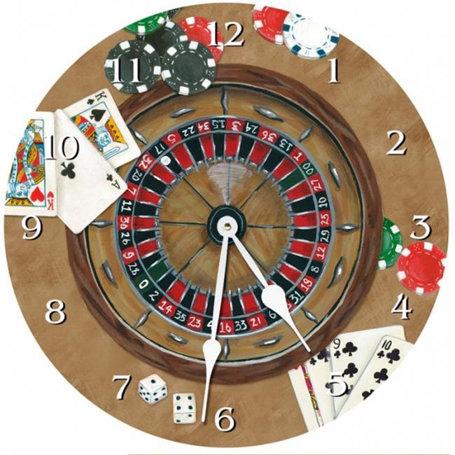 Lexington Studios 23-Round Clock:23115-R The Gambler Round Clock