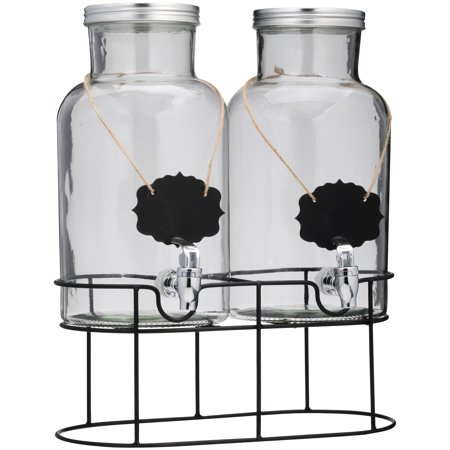 Chalkboard Double Drink Beverage Dispenser
