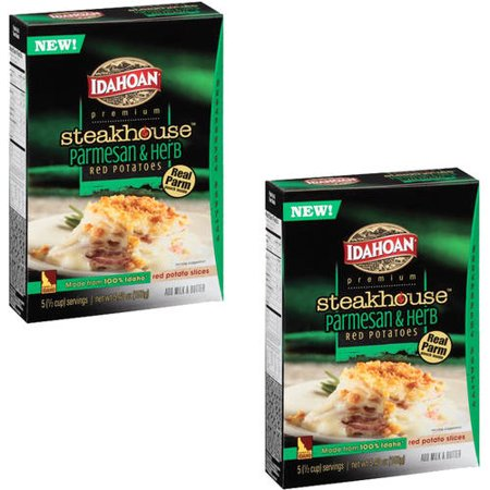 ((2 Pack) Idahoan Premium Steakhouse Parmesan & Herb Red Potatoes, 5.4 oz)