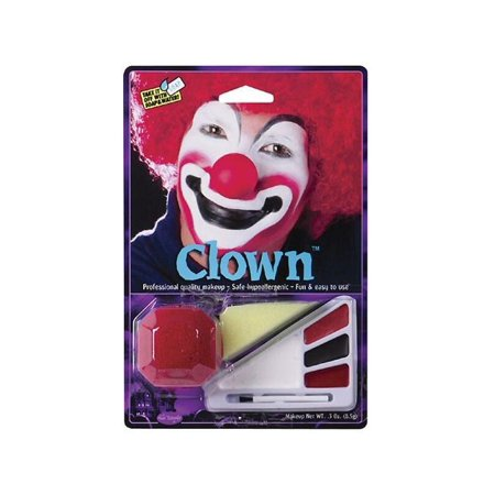 Adult Clown Halloween Makeup Kit W/ Nose](Freaky Clown Makeup)