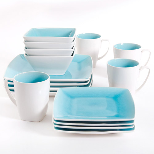 Gibson Studio Pleasanton 16-Piece Dinnerware Set, Square