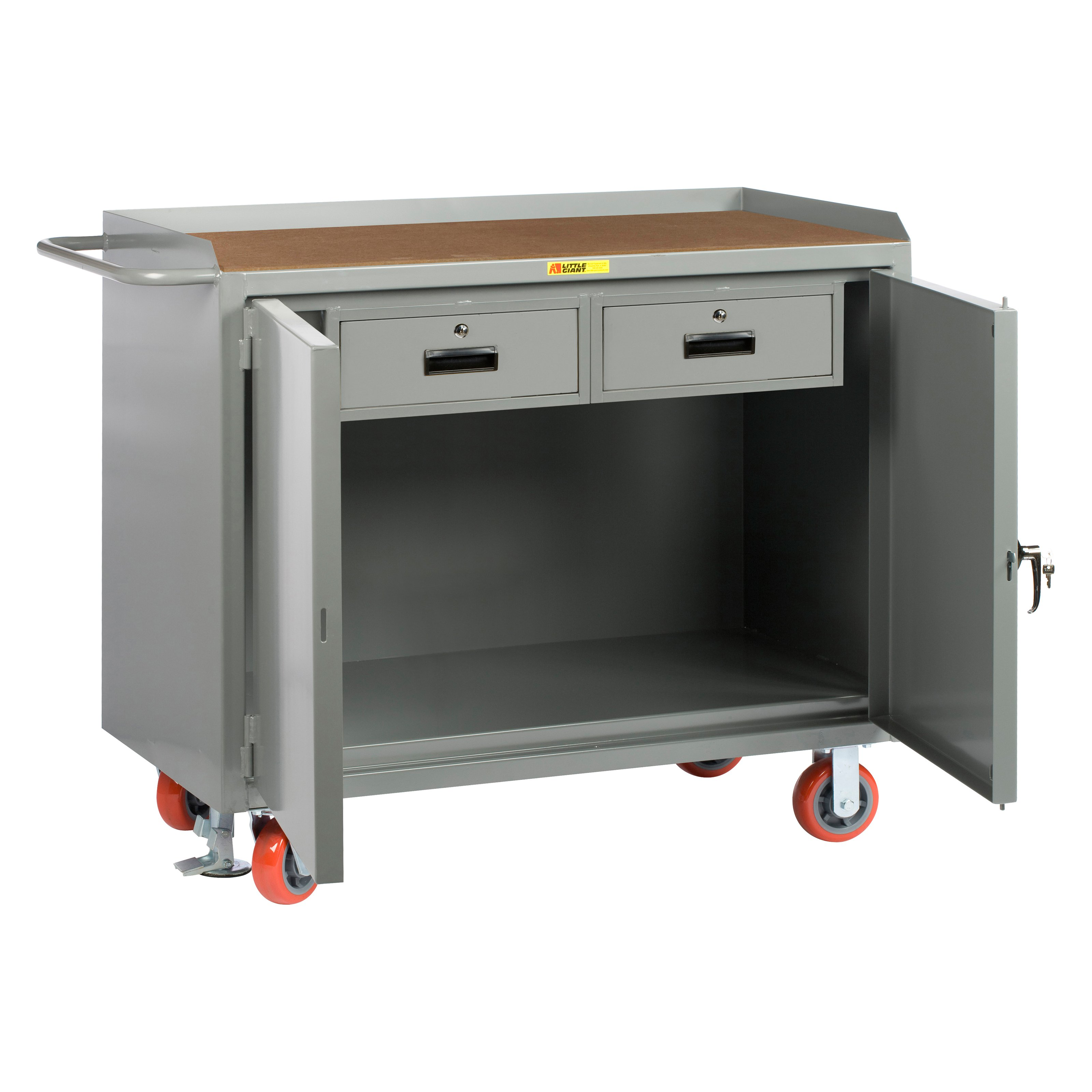 Little Giant Mobile Cabinet Workbench with Double Storage Drawers