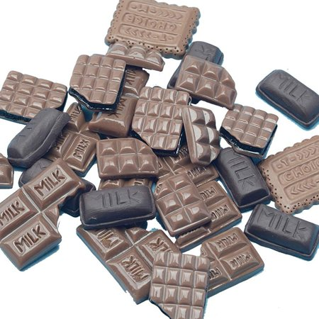 US 15~100 Pc Slime Bread Candy Flatbacks Resin Flat Back Scrapbooking Charms DIY (Chocolate, 30 Pcs)](Christmas Chocolates)