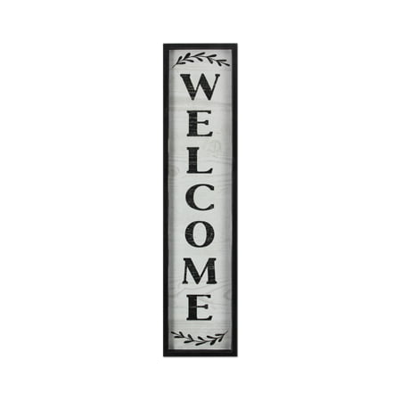 Wood Vertical Welcome Signs