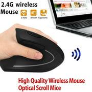6D 2.4G Wireless Ergonomic Vertical Mouse Left Hand Optical 1600DPI Gaming Mic