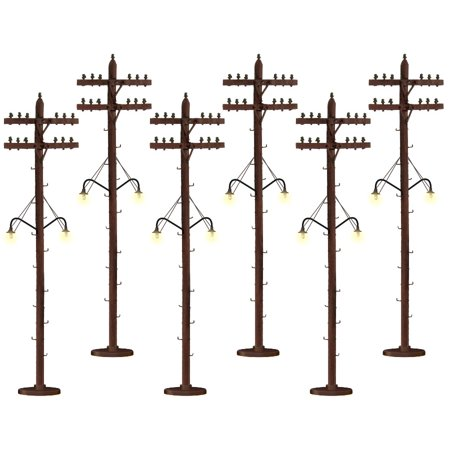 Lionel 6-37995 Scale Telephone Poles - Lighted