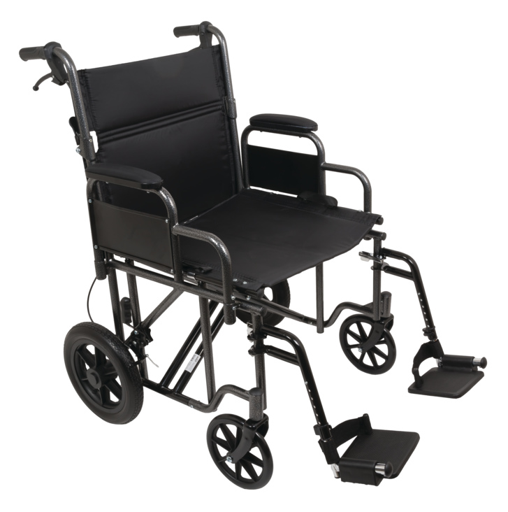 "ProBasics 22"" Heavy Duty Bariatric Steel Transport Chair, 450lb Capacity"