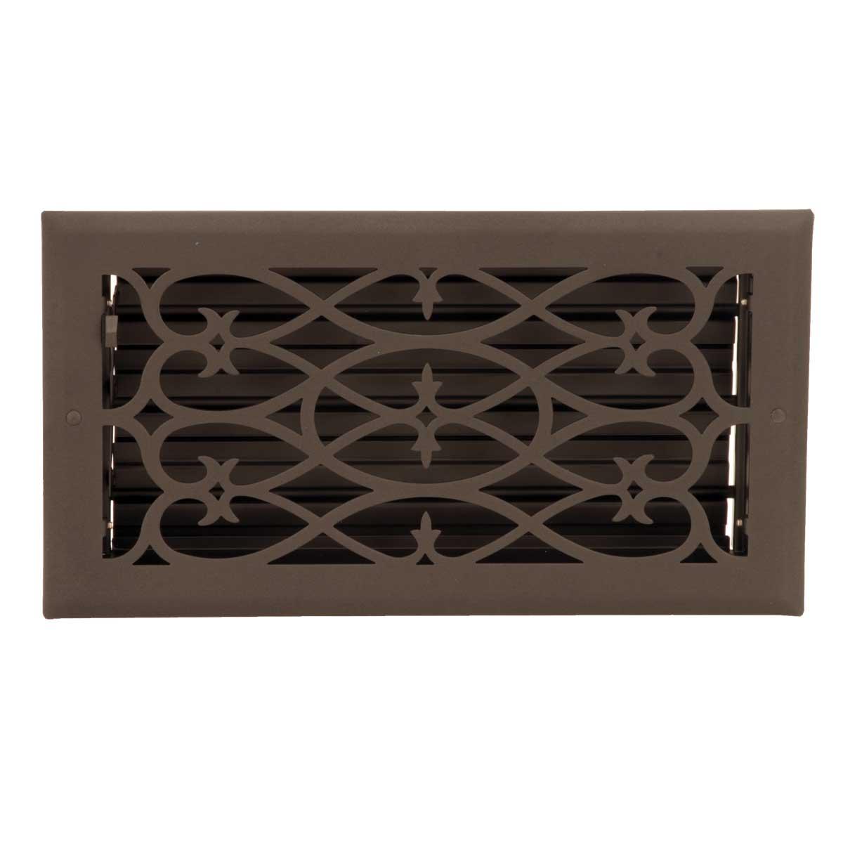 Floor Heat Register Louver Vent Steel 5 3/4 x 11 3/4 Duct | Renovator's Supply