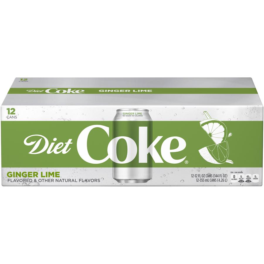 Coke Ginger Lime Diet Soda, 12 Fl. Oz., 12 Count