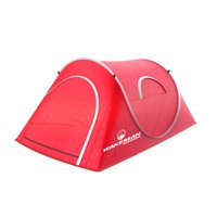 Pop-up Tent 2 Person, Water Resistant Barrel Style Tent for Camping With Rain Fly And Carry Bag, Starchaser 2-person Tent By Wakeman Outdoors (Red)