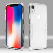 """Apple iPhone XR (6.1 inch) Phone Case Tuff Hybrid Shockproof Impact Rubber Dual Layer Hard Soft Protective Hard Case Cover Transparent Clear Phone Case for Apple iPhone Xr (6.1"""")"""