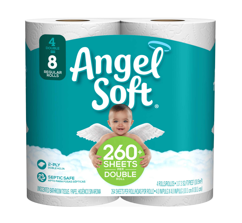 Angel Soft Toilet Paper 4 Double Rolls Walmart Inventory Checker Brickseek