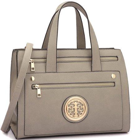 Dasein  Fashion Gold-Tone  Work Satchel Handbag