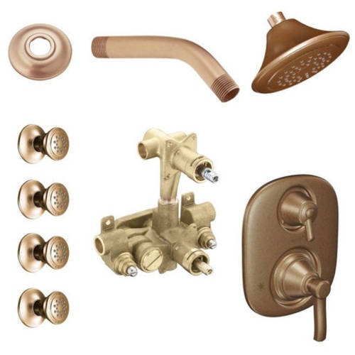 Moen Kspro-sb-ts203orb Rothbury Vertical Spa Kit with Shower, Available in Various Colors