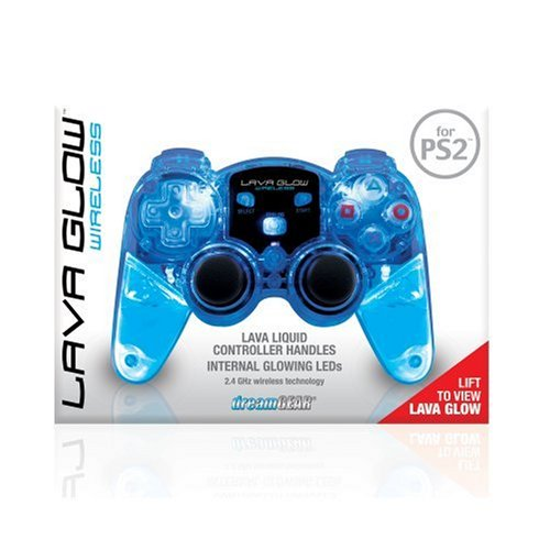 DREAMGEAR DRM524B PlayStation 2 Lava Glow Wireless Controller