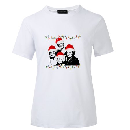 AkoaDa 2019 Fashion Funny The Golden Girls Christmas Raglan T Shirt Unisex Funny Tacky Christmas Lights Holiday Shirt