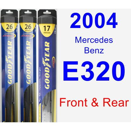 2004 Mercedes-Benz E320 Wiper Blade Set/Kit (Front & Rear) (3 Blades) - Hybrid