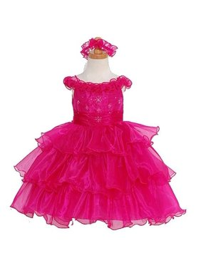 dabb08be8ed Product Image The Rain Kids Girls 18M Pink Organza Sequin Flower Girl  Pageant Dress