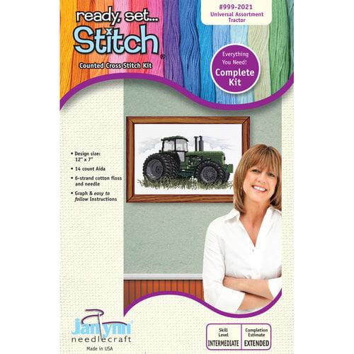 Janlynn 12x7 Tractor Cross-Stitch Kit