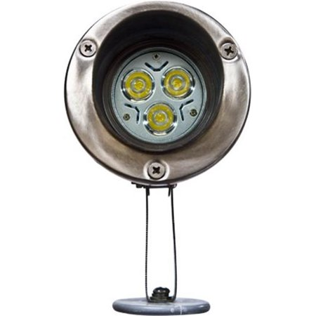 Image of Dabmar Lighting LV11-LED3 Stainless Steel Directional LED Spot Light with Hood, Stainless Steel - 5.75 x 3.25 x 5.40 in.