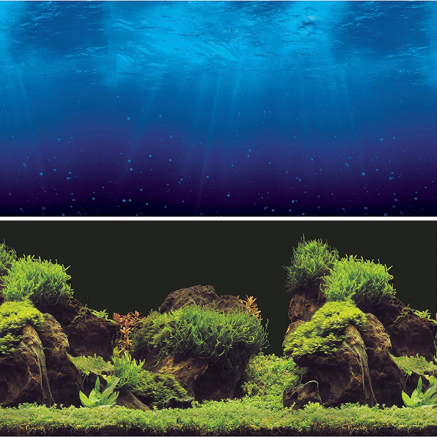 "Aquarium Background Double sides (Deep Sea Water Plants) (24""W X 24""H), Double sided- One side... by"