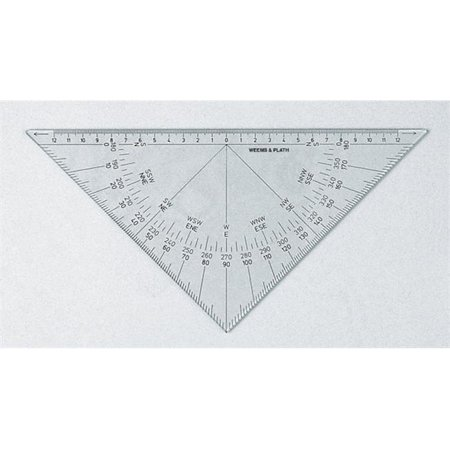 Weems & Plath 103 Protractor Triangle all black scale - Weems Protractor