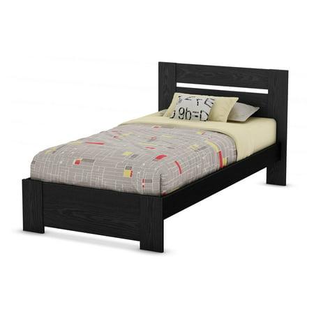 Oak Platform Bed (South Shore Flexible Twin Platform Bed, Black Oak)