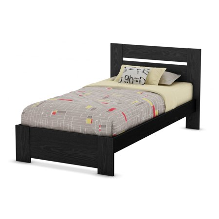 South Shore Flexible Twin Platform Bed Black Oak
