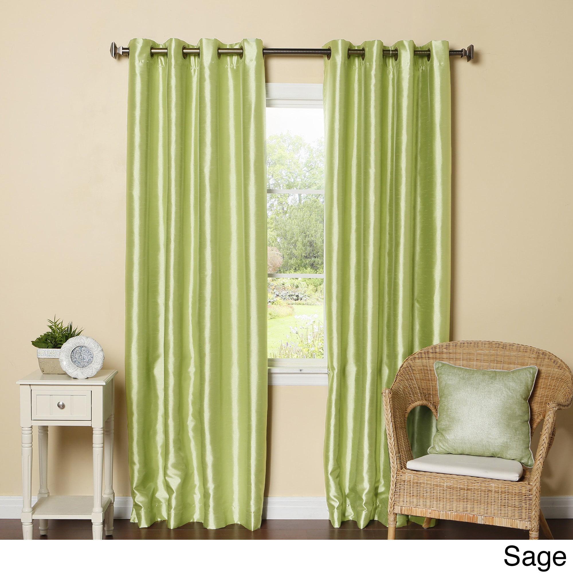 Aurora Home  Grommet-Top Faux Silk Blackout Curtain Panel...
