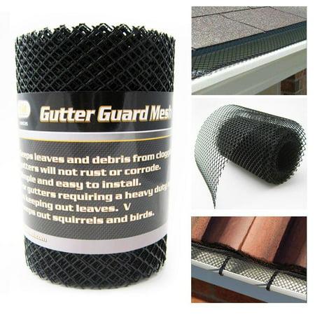 Gutter Guard Mesh 16 Ft X 6In Black Plastic 5
